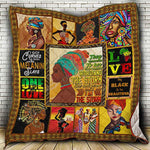 Black is Beautiful Quilt Blanket, African Woman Blanket, Black Woman Blanket, Black Woman Gift-Moon & Back