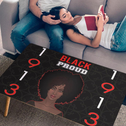 Black Proud Delta Sigma Theta Coffee Table-Moon & Back