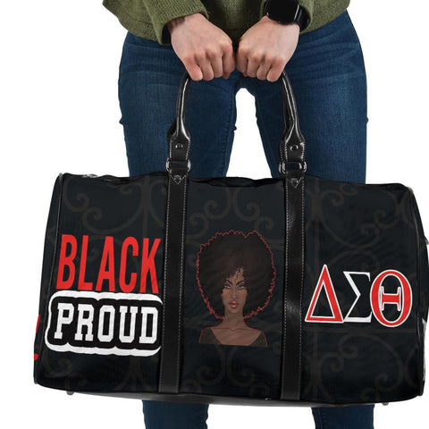 Black Proud Delta Sigma Theta Travel Bag-Moon & Back