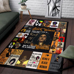 Black Woman Rug, Black Lives Matter, Black is Beautiful-Moon & Back