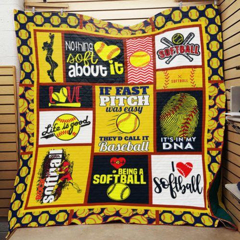 Born To Softball - Softball Lovers Blanket Gift - Birthday- Coworkers - Son - Sport NS1-Moon & Back