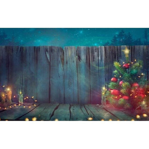 Christmas Photography Backdrop Banner - Bokeh 6-Moon & Back-Vinyl 300x300cm (10x10ft)-Moon & Back