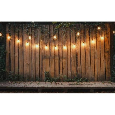 Christmas Photography Backdrop Banner - Wooden Warm Light-Moon & Back-Thin Cloth 60x40cm-Moon & Back