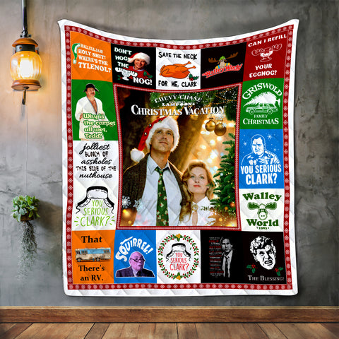 Christmas Vacation Movie Blanket, John Hughes Lovers Gift-Moon & Back