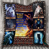 Code Of The Wolf -Survive Each Day Quilt Blanket - DG7761-Moon & Back