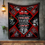 To My Only Love Skull Couple Blanket, Anniversary Gothic Skull Gift-Moon & Back