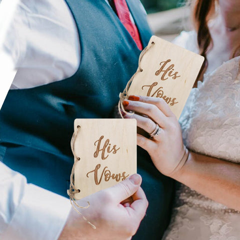 Creative His And Her Vow Books-Moon & Back-Moon & Back