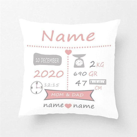 Custom Baby Birthday Pillow Cover Personalized-Moon & Back-01-Moon & Back