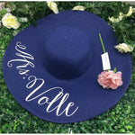 Custom Honeymoon or Bachelorette Party Hat Bride Beach Hat-Moon & Back-sister of the bride-Moon & Back