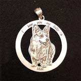 Custom Pet Keychain Photo Necklace-Moon & Back-Stainless keychain-Moon & Back