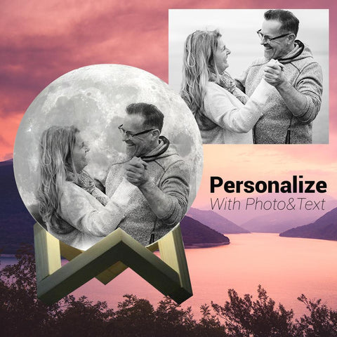 Custom Photo Moon Lamp - Anniversary Gift-nasagiftshop-2 colors-10CM-Moon & Back