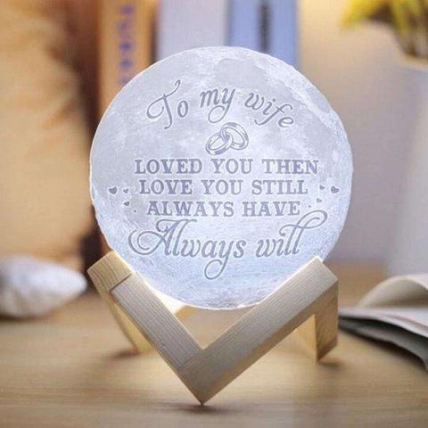 Custom Photo Moon Lamp - Husband To Wife (15 cm)-Moon & Back-Moon & Back