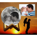 Custom Photo Moon Lamp (Sale - Limited Time Only)-nasagiftshop-White and Warm White-10CM-Moon & Back