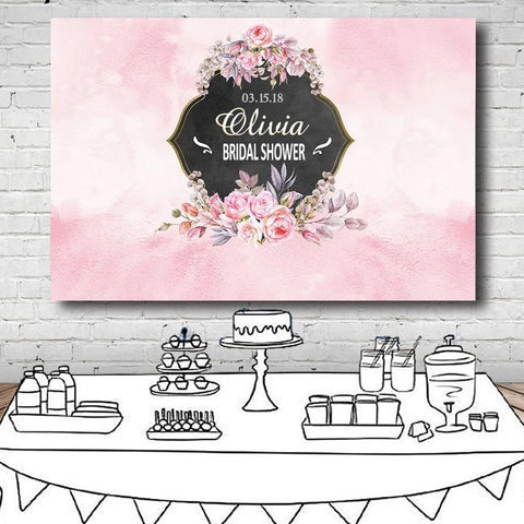 Romantic Bridal Wedding Customized Backdrop-Moon & Back-39.37x27.56 INCH-Moon & Back