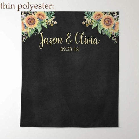Custom Wedding Photoshoot Background Banner-Moon & Back-W100xH150CM-Black-Moon & Back