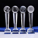 Customizable Sports Event Crystal Trophies-Moon & Back-Basketball-25 X 7 CM (9.84x2.75in)-Moon & Back