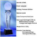 Customized Basketball Crystal Trophy-Moon & Back-Moon & Back