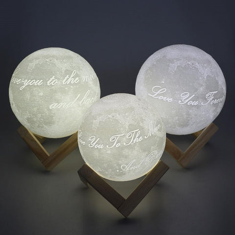 Customized Moon Lamp - Love You To The Moon and Back-nasagiftshop-White and Warm White-10CM-Moon & Back