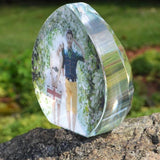 Customized Shaped Crystal Photo Frame-Moon & Back-Moon & Back
