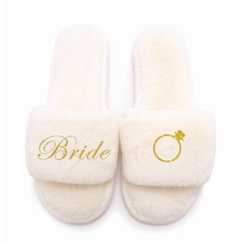 Customized Wedding Slippers-Moon & Back-only bride ring-37-38-Moon & Back