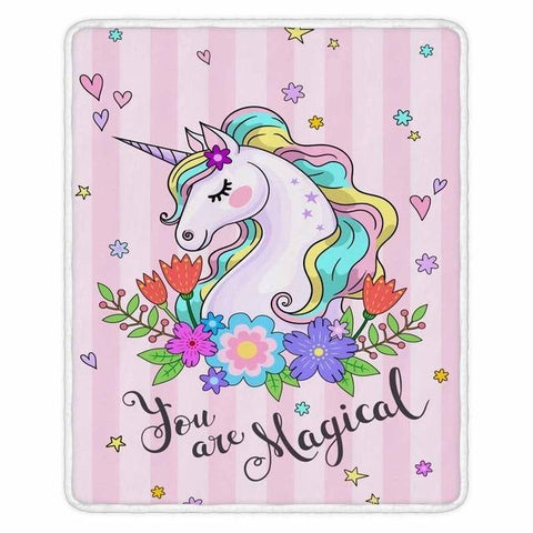Cute Unicorn Super Soft Throw Blankets-Moon & Back-001-200x150cm-Moon & Back