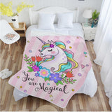 Cute Unicorn Super Soft Throw Blankets-Moon & Back-003-200x150cm-Moon & Back