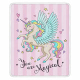 Cute Unicorn Super Soft Throw Blankets-Moon & Back-002-200x150cm-Moon & Back