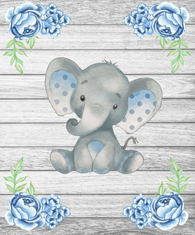 Elephant Baby Blanket for Birthday Gift, Baby Shower Gifts, Newborn Gifts-Moon & Back