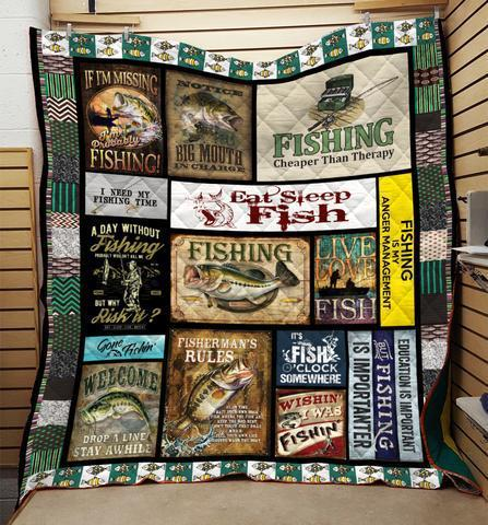 Fishing Therapy Blanket, Fishing Lovers Blanket, Fisherman's Gift-Moon & Back