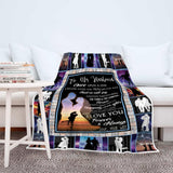 "To My Husband Personalized Photo Custom Blanket-Sherpa Blanket-wc-fulfillment-Adult 70""x44""-Moon & Back"