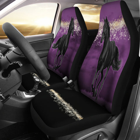 Horse Pink Night Car Seat Covers-Moon & Back