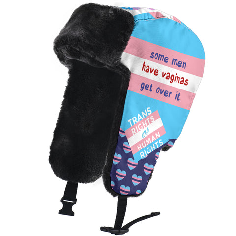 Transgender LGBT Winter Trapper Hat, Love is Love Pride Gifts-Moon & Back