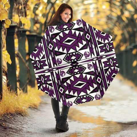Native Umbrella (purple)-Moon & Back