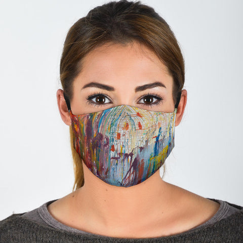 Adjustable Impressionistic Face Mask with 5 Layer Filters-Moon & Back