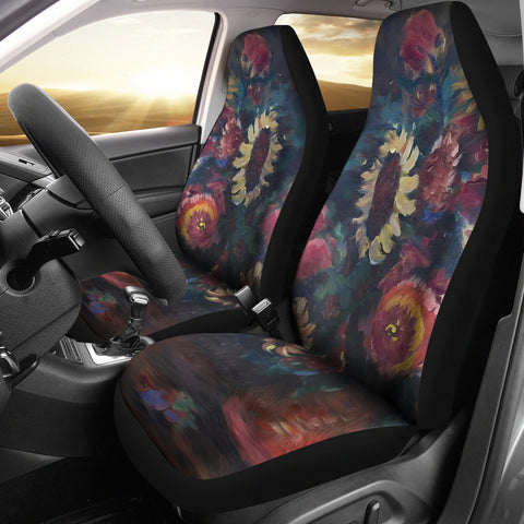 The Sunflower Bouquet Car Seat Covers from Fine Art Painting-Moon & Back