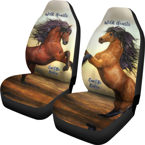 Wild Hearts Can't Be Broken Car Seat Covers For Horse Lovers-Moon & Back