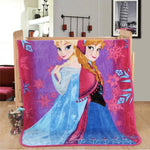 Frozen Princess Elsa Throw Blanket-Moon & Back-150x200cm-Moon & Back