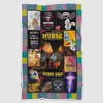 Great Nurse Dad Blanket, Awesome Nurse Blanket, Nurse Dad Who Believed In Her First Blanket - EC1007-Moon & Back