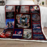 Guardian Of Freedom And The American Way Of Life Blanket-Moon & Back