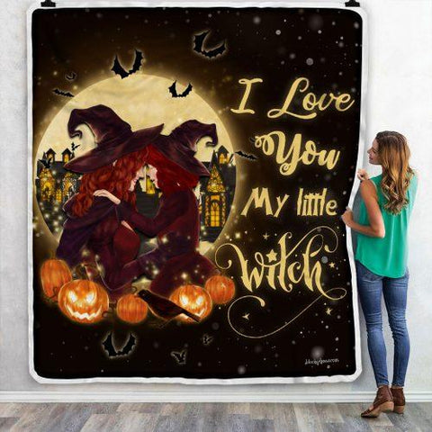 Halloween Blanket, Witch Mom and Daughter Blanket-Moon & Back