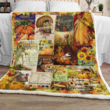 Happy Thanksgiving Quilt Blanket Gifts, Special Autumn Thanksgiving Gifts, Pumpkin Smelled Welcome Home Gifts-Moon & Back
