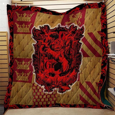 Harry Potter Series Gryffindor Quilt Blanket-Moon & Back-51.1X59 Inches-Moon & Back