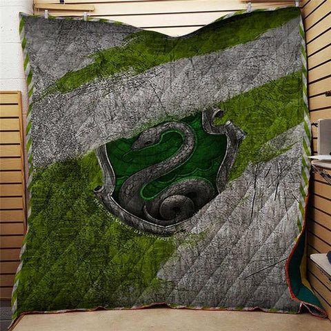 Harry Potter Series Slytherin Quilt Blanket-Moon & Back-51.1X59 Inches-Moon & Back