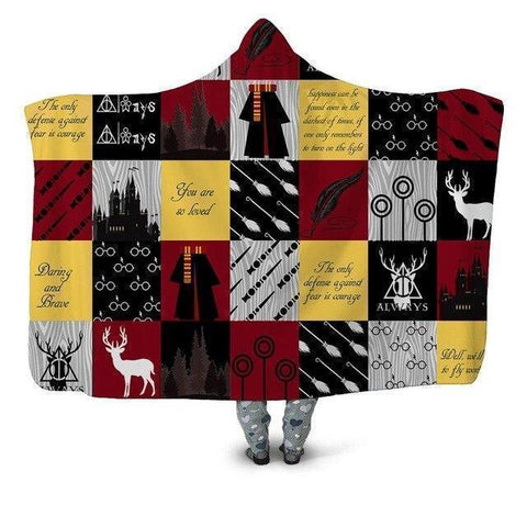 Harry Potter Series Wearable Blanket-Moon & Back-Throw 50INCHx60INCH-Moon & Back