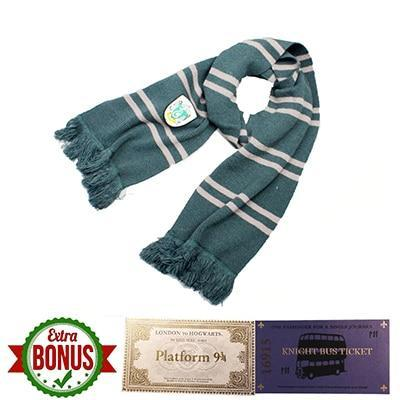 Harry Potter Slytherin Students Scarf-Moon & Back-Moon & Back