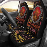 Harry Pottery Gryffindor Car Seat Cover Set,Harry Potter Gifts-Moon & Back