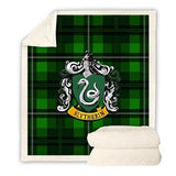 Harry Potter Microfiber Throw Blanket- Slytherin-Moon & Back-Green-51 x 60 inches-Moon & Back
