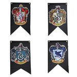 Hogwarts Guilds Flag Banners-Moon & Back-11.8x19.6 Inches (30x50 cm)-Moon & Back