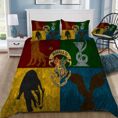 Hogwarts Slytherin, Gryffindor, RavenClaw, Hufflepuff Bedding Set-Moon & Back