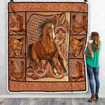 Horse Lover Blanket, Gift For Horse Lovers-Moon & Back